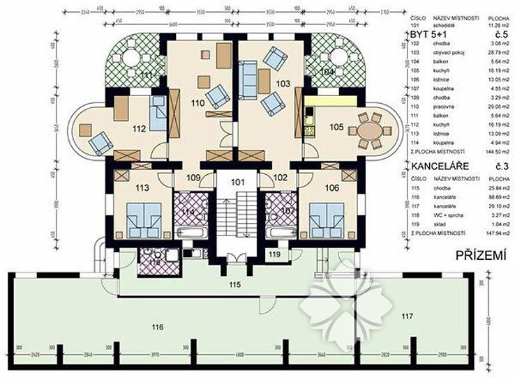 Three Bedroom Apartment 144 M2 Klikat Prague